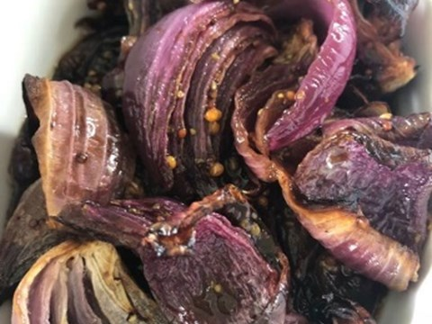 Roasted red onions with balsamic and mustard glaze.jpg