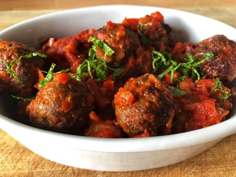 Lamb meatballs with spicy capsicum sauce.jpg
