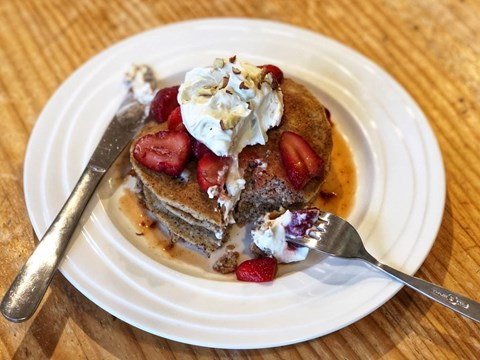 Hazelnut Pancakes with Macerated Strawberries and Whipped Coconut Cream.jpg
