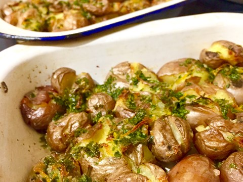 Twice Cooked Baby Potatoes with Caper, Lemon, and Herb Butter.jpeg