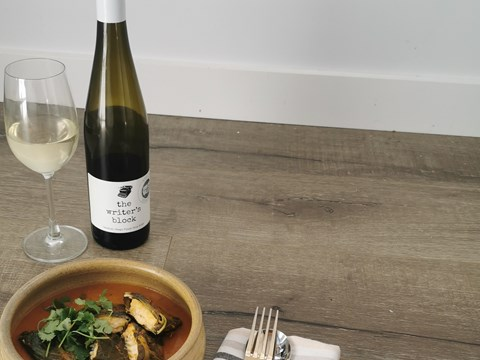 Collard Wrapped Brill in Red Capsicum Curry Sauce with vino.jpg