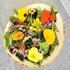 Salad with Edible Flowers and Vinaigrette.jpg