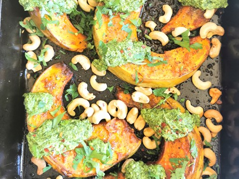Garlic Roasted Pumpkin with Basil Pesto and Cashews.jpg