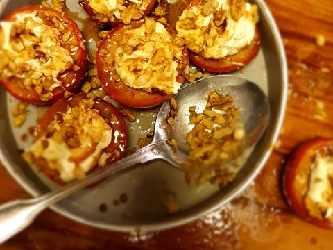 Baked Apple topped with Mascapone & Walnuts.jpg