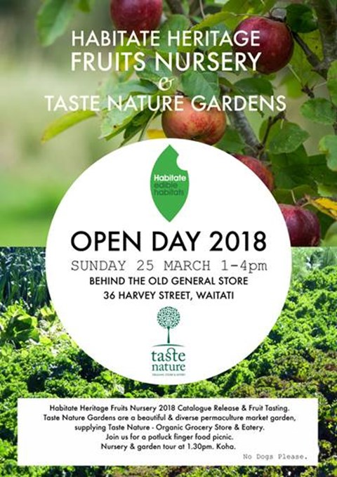 Habitate Nursery/Taste Nature Gardens Open Day this Sunday