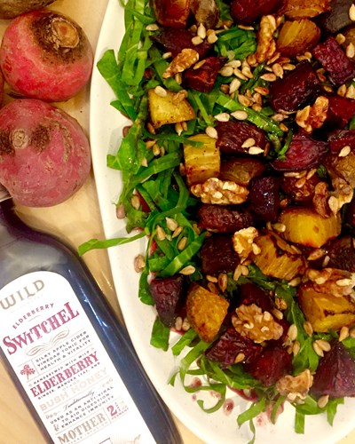 Roast Beetroot Salad with Wild Dispensary Switchel Dressing