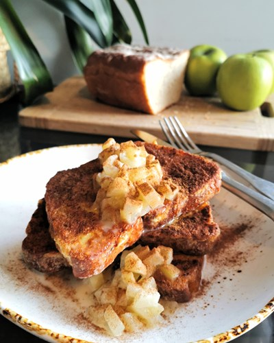 French Toast with Coconut Caramel Apples