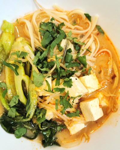 Miso Noodle Soup with Tofu and Bok Choy