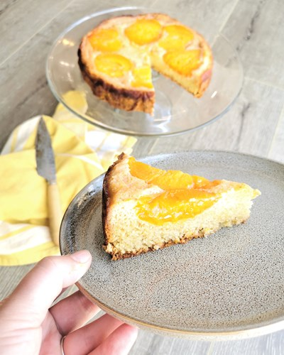 Apricot and Honey Upside Down Cake