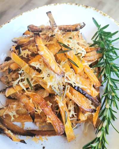 Swede Fries with Parmesan and Rosemary